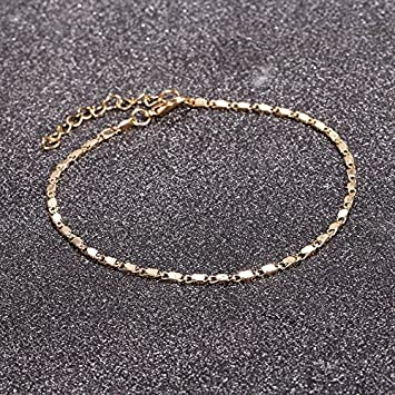 d68c17f5f3d Image Unavailable. Image not available for. Color: Women Simple Gold Chain  Anklet Ankle Bracelet Barefoot Sandal Summer ...