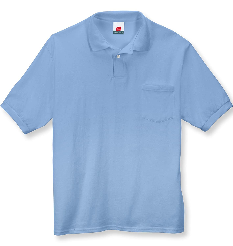 Hanes Men's ComfortBlend EcoSmart Jersey Pocket Polo 054P
