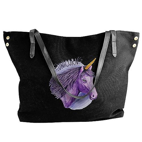 Amazon.com: De la Mujer Unicornio lona Gran Playa bolsa ...