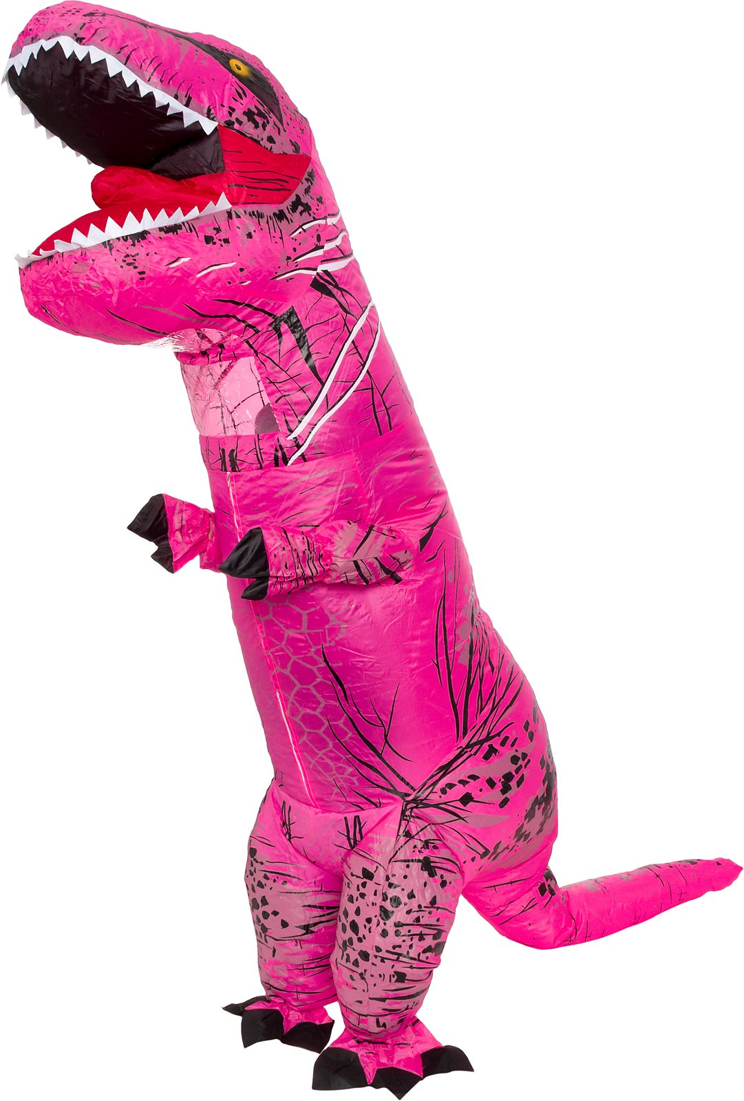 Splurge Worthy Toys and Games Inflatable Dinosaur Costume - Adult Giant Jurassic T-Rex Blow up Halloween Costume (Pink)