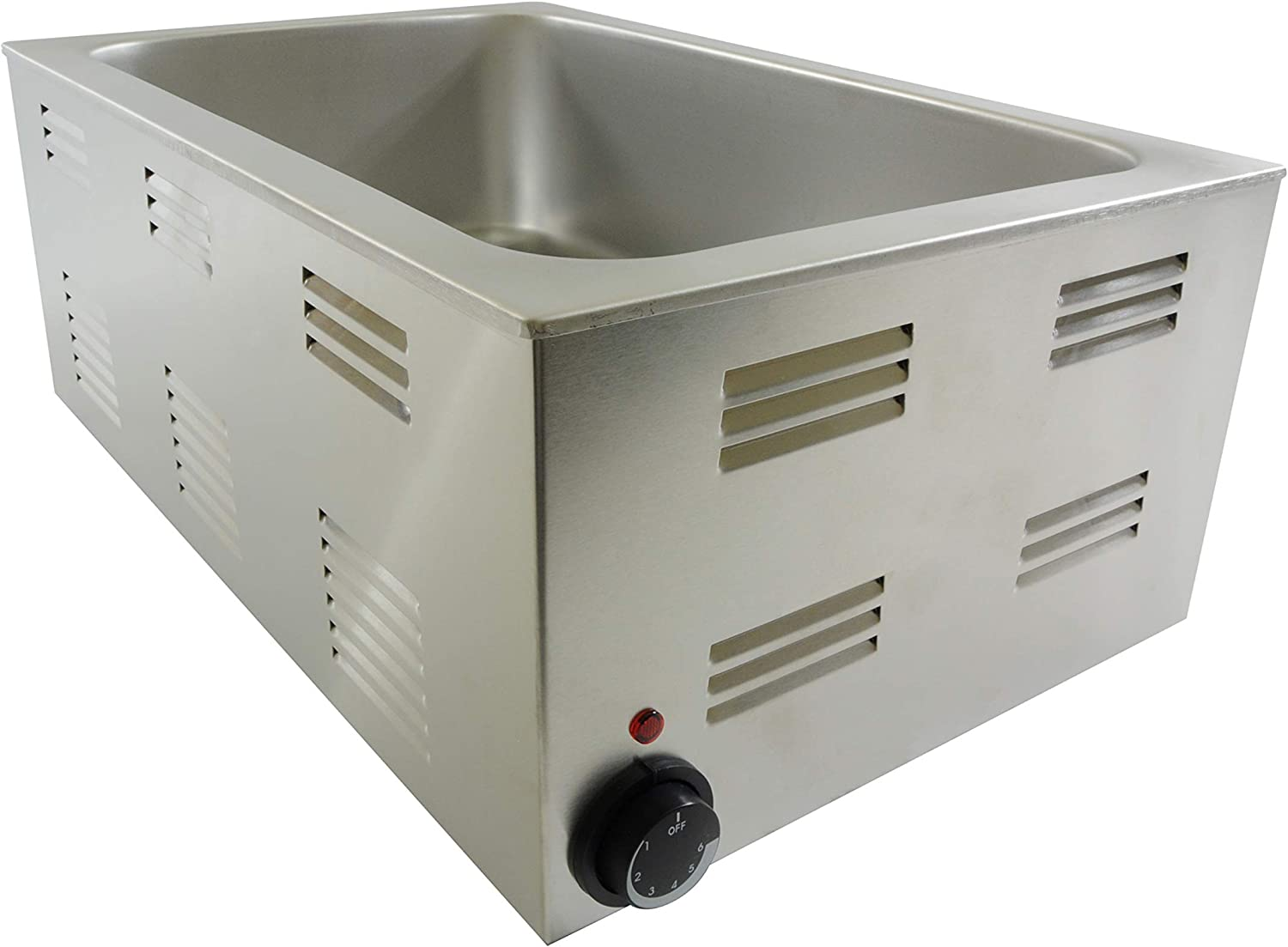 Thunder Group Stainless steel 8 quart food warmer with full size steam pan and lid set, SEJ80000C + STPA9002, comes in set