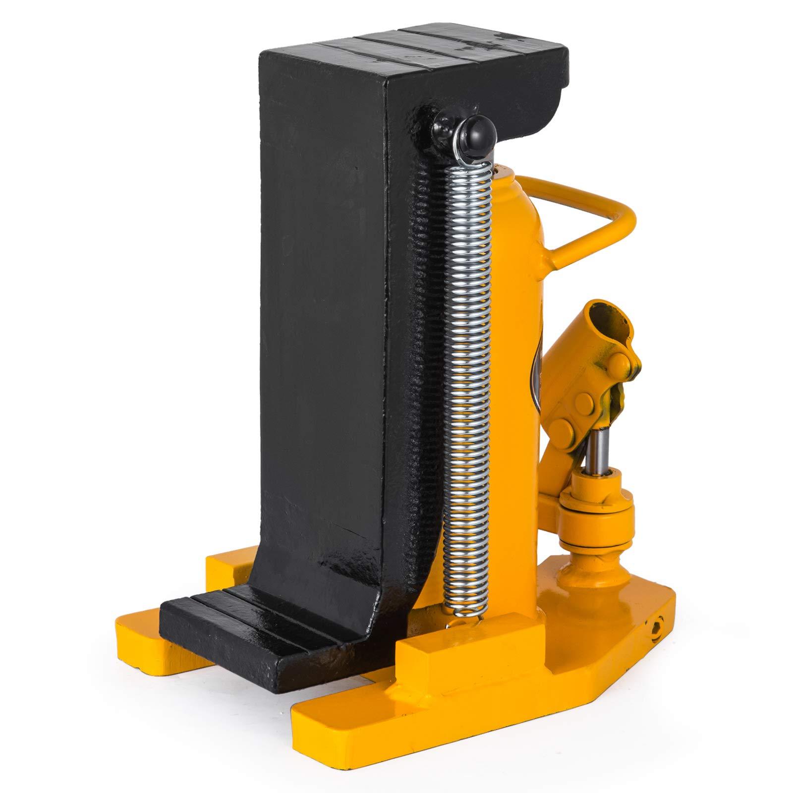 Mophorn Toe Jack Lift Hydraulic Machine Toe Jack Lift Air Hydraulic Toe Jack Proprietary Heat-Treated Steel (10-20Ton Yellow) by Mophorn