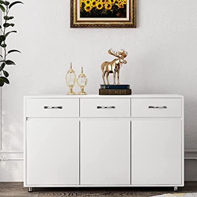 Buy Rasoo Buffet Cabinet Kitchen Cabinet Storage Sideboard Cabinet Cupboard Sideboard Buffet Kitchen Room White 3 Doors And 3 Drawers Online In Indonesia B086jgr6k5