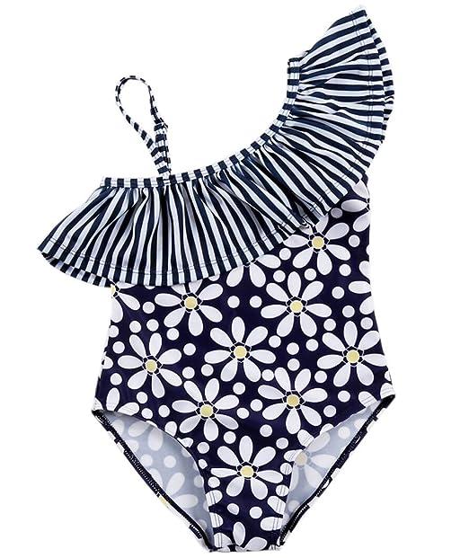 e42408fc4b32 waidwalk estampado Floral Body para bebé niña bañadores trajes de baño,  Marino, Small(