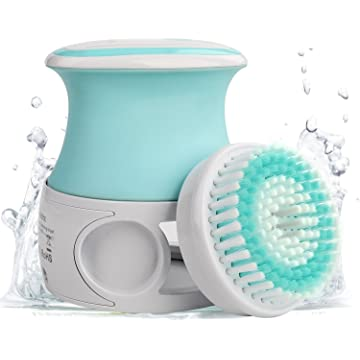 Liberex Rechargeable Bath Brush Set - Body Cleansing Scrubber with Auto-Foaming System, Waterproof with 2 Adjustable Speeds, Wireless Charging Dock for Shower Exfoliating & Removing Dead Skin