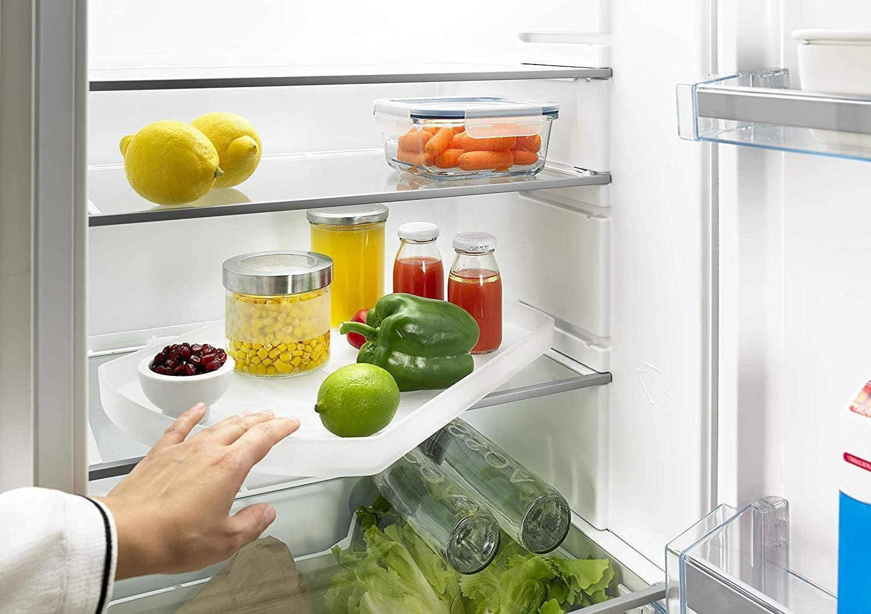 Hettich ComfortSpin Drehteller 17° drehbar (für Kühlschrank, Badezimmer;  lebensmittelecht, Maße 17,17x17,17 cm) 17