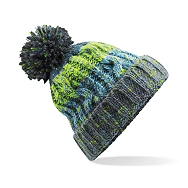 1ec4f77bb3b Winter Bobble Hat Beanie - Ski Snowboard Chunky Knit Unisex Men s Women s (Unisex  One Size