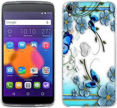 FUBAODA Funda One Touch Idol 3 (5.5 Inch), [Piccolo Fiore Viola ...