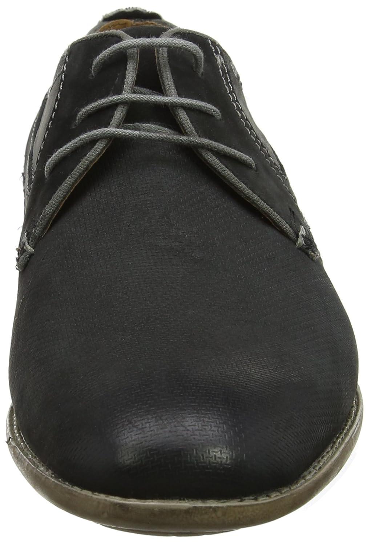Bugatti 311253031500, Zapatos de Cordones Derby para Hombre, Negro (Schwarz), 44 EU amazon-shoes el-negro Cordones