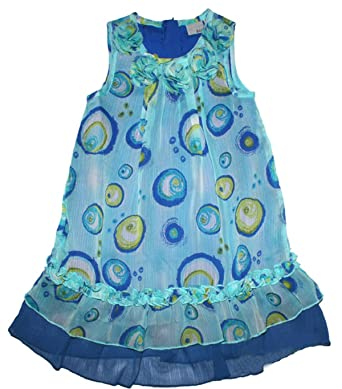 Bestbewertet authentisch neue auswahl begrenzte garantie Blue Seven Sommerkleid in Aquablau mit Tüllbesatz, weit ...