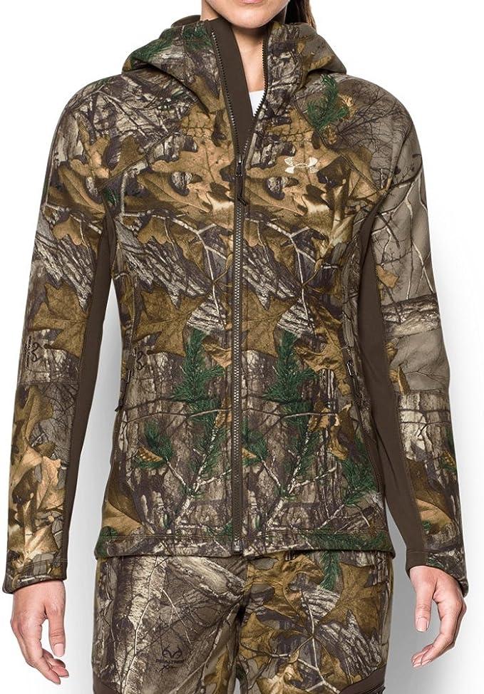 Size New Medium Details about  /Under Armour Heat Gear Mossy Oak Camo Hoodie Sweater