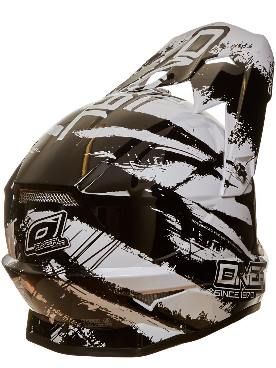 Amazon.com: Oneal Black-White 2018 3Series Shocker Mx Helmet (L , Black): Automotive