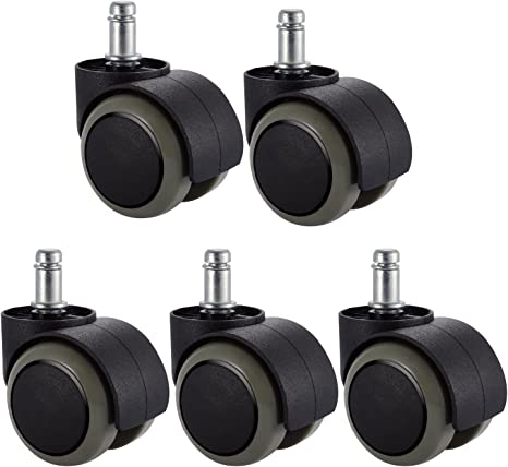 Amazon Com 5 Packs Pchero Office Chair Casters Wheels With Universal Standard Size 11mm Stem Diameter And 22mm Stem Length 0 43inch X 0 86inch Support Up To 550lbs Weight Automotive