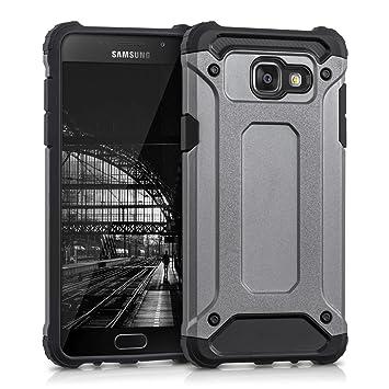 kwmobile Funda para Samsung Galaxy A5 (2016) - Carcasa híbrida de TPU con diseño Transformer en Antracita/Negro