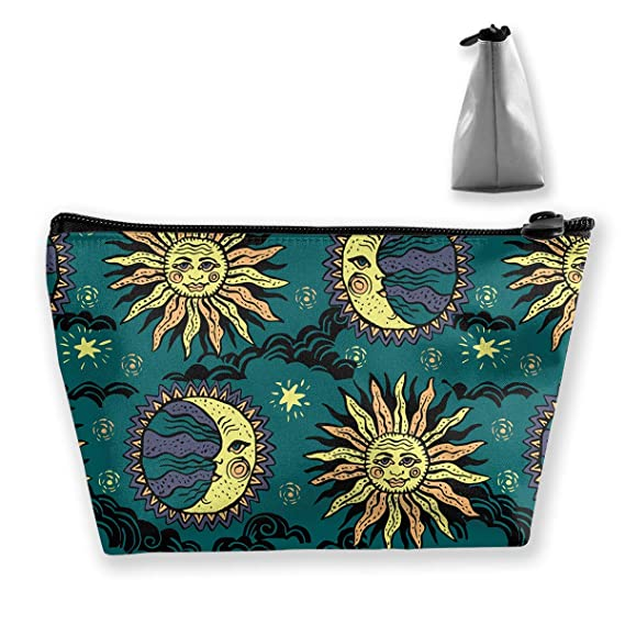 Pencil Case Sun and Moon Pouch Portable Cosmetic Handbag Coin Purse Travel Toiletry Beach Wash Bag: Amazon.es: Ropa y accesorios
