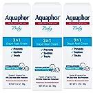 Aquaphor Baby 3 in 1 Diaper Rash Cream - Prevents, Soothes and Treats Diaper Rash - 3.5 oz. Tube (Pack of 3)