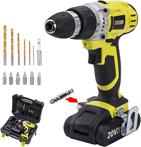 CACOOP CCD20001LBB 20V MAX 1.5 Ah Lithium-Ion Cordless Drill/Driver Set