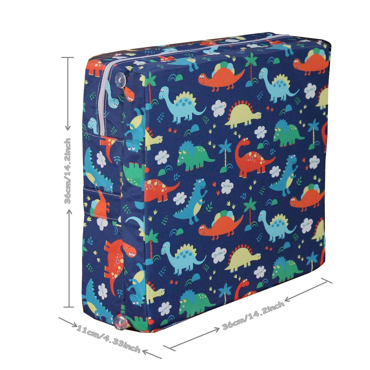 Dinosaur simpletome Chair Booster Seat Cushion Pad for Big Kids with 6 Safety Fixing Straps