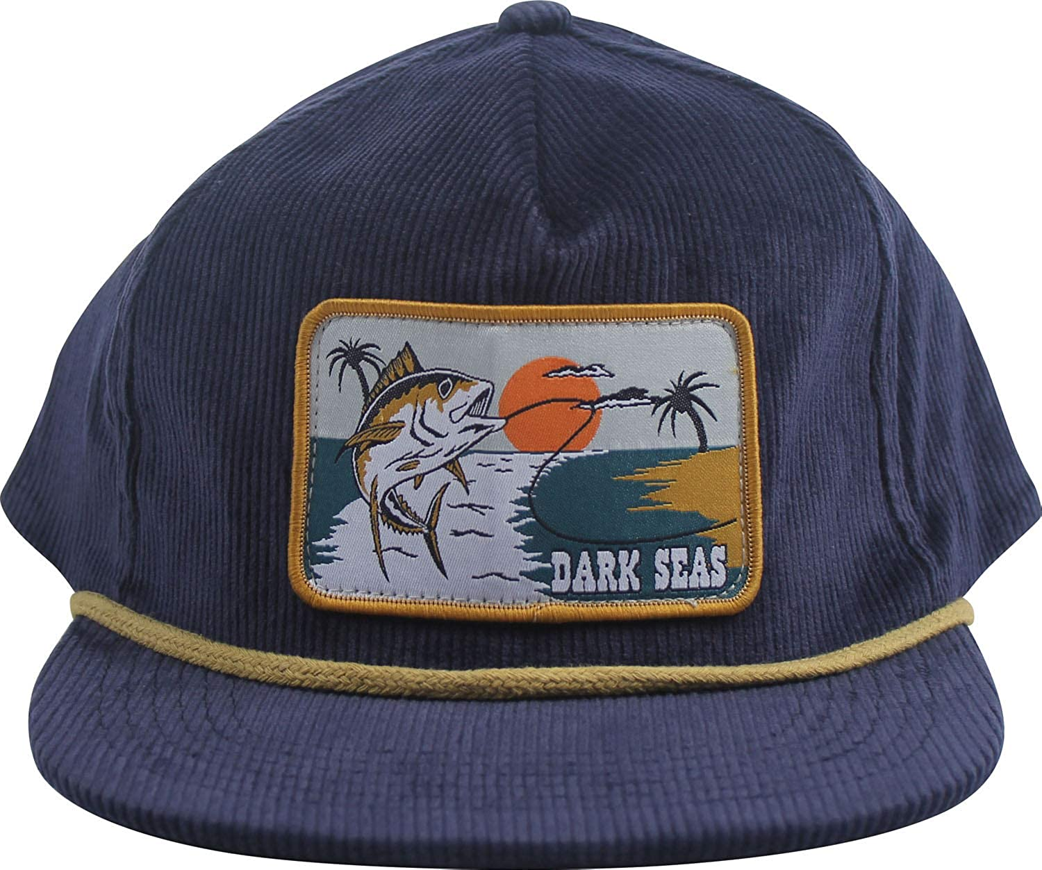8b9a322beee Dark Seas Swivel Corduroy Snapback Hat Dark Navy Mens One Size at Amazon  Men s Clothing store