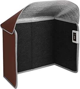 Livtribe Space Heater, Foldable Foot Warmer with Timer & Overheat & Tip-Over Protection, Portable Panel Heater for Office and Home (Brown)