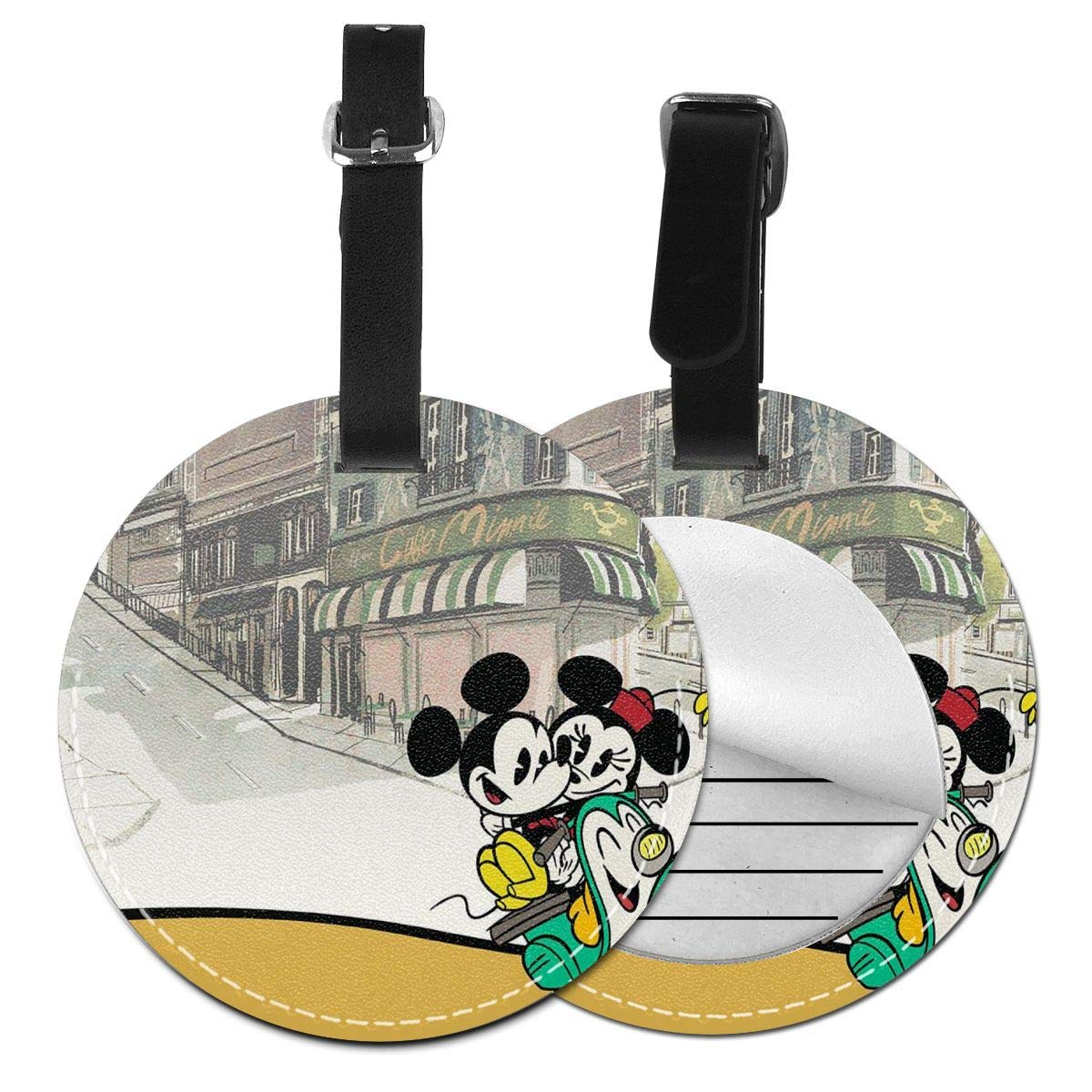 WEIBING Round Luggage TagMickey and Minnie Mouse Couple Luggage Tags Suitcase Labels Bag Travel Accessories