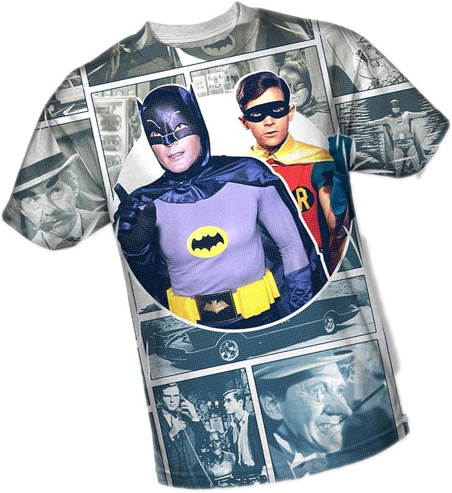 Panels -- Batman TV Show All-Over Front Print Sports Fabric T-Shirt