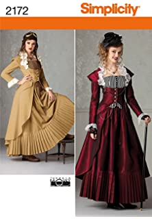 Cosplay By McCalls Cosplay M2024 6,Puff-Sleeve Blouse,Sash and Detachable Ruffled Collar,Sizes 6-10 Tissue Multi-Colour