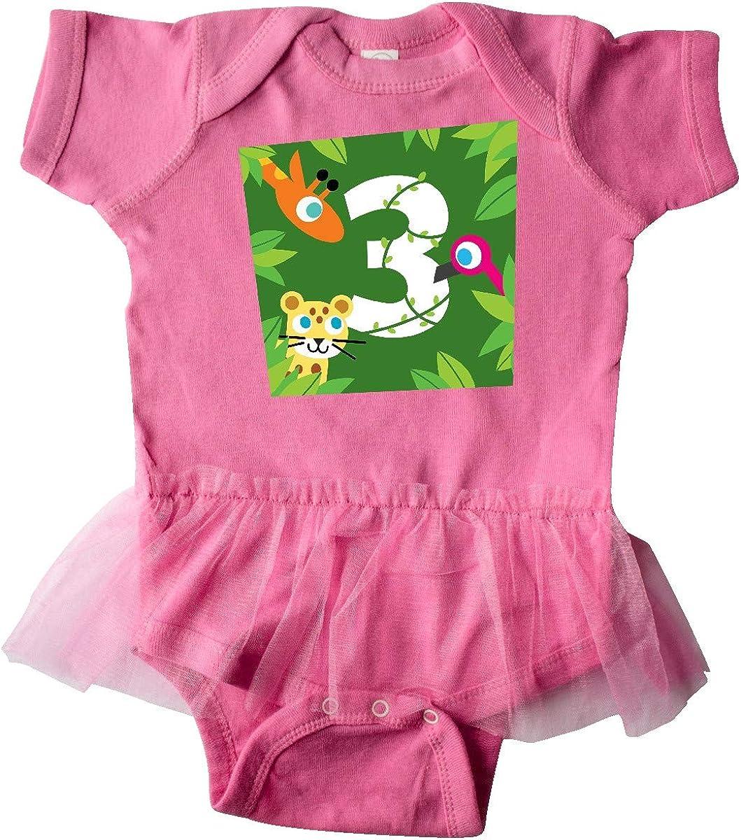 PBS Kids inktastic Zoo Animals 3rd Birthday Infant Tutu Bodysuit