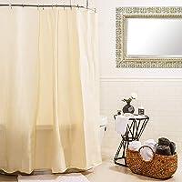 Splash Home - Cortina de Vinilo Impermeable y Resistente al Moho (70 x 72 cm), Color Beige