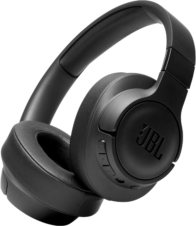 JBL TUNE700BT - Auriculares Supraaurales con Bluetooth, de diadema ligeros con batería de hasta 27 horas y cable extraíble, color negro