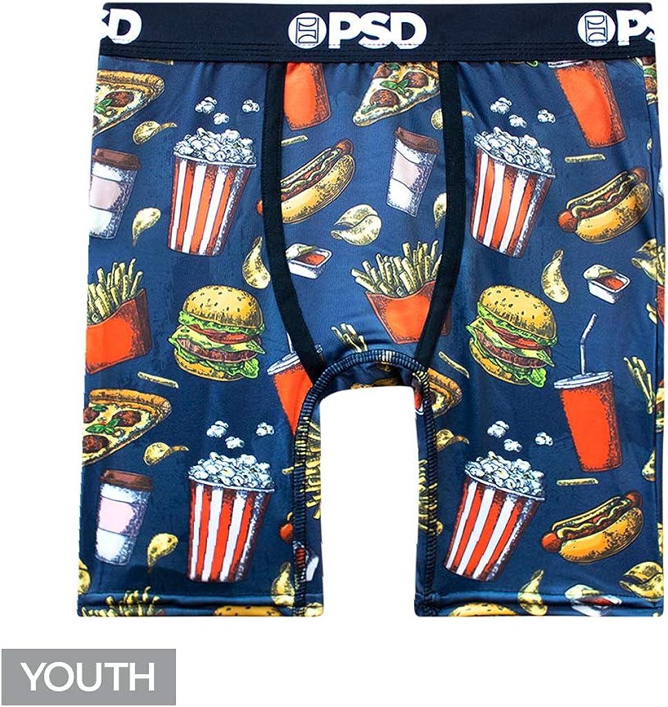 PSD Underwear Junk Lunch - Youth Boxer Briefs, Black, Large