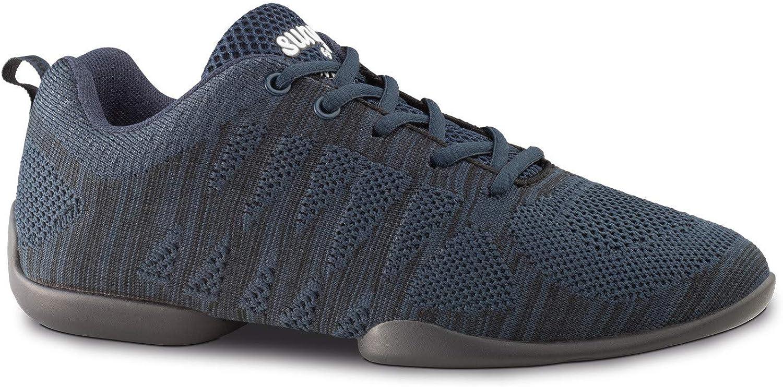 Mujeres Dance Sneakers//Zapatos de Baile 130 Bold Azul//Negro Suela Sneaker Anna Kern