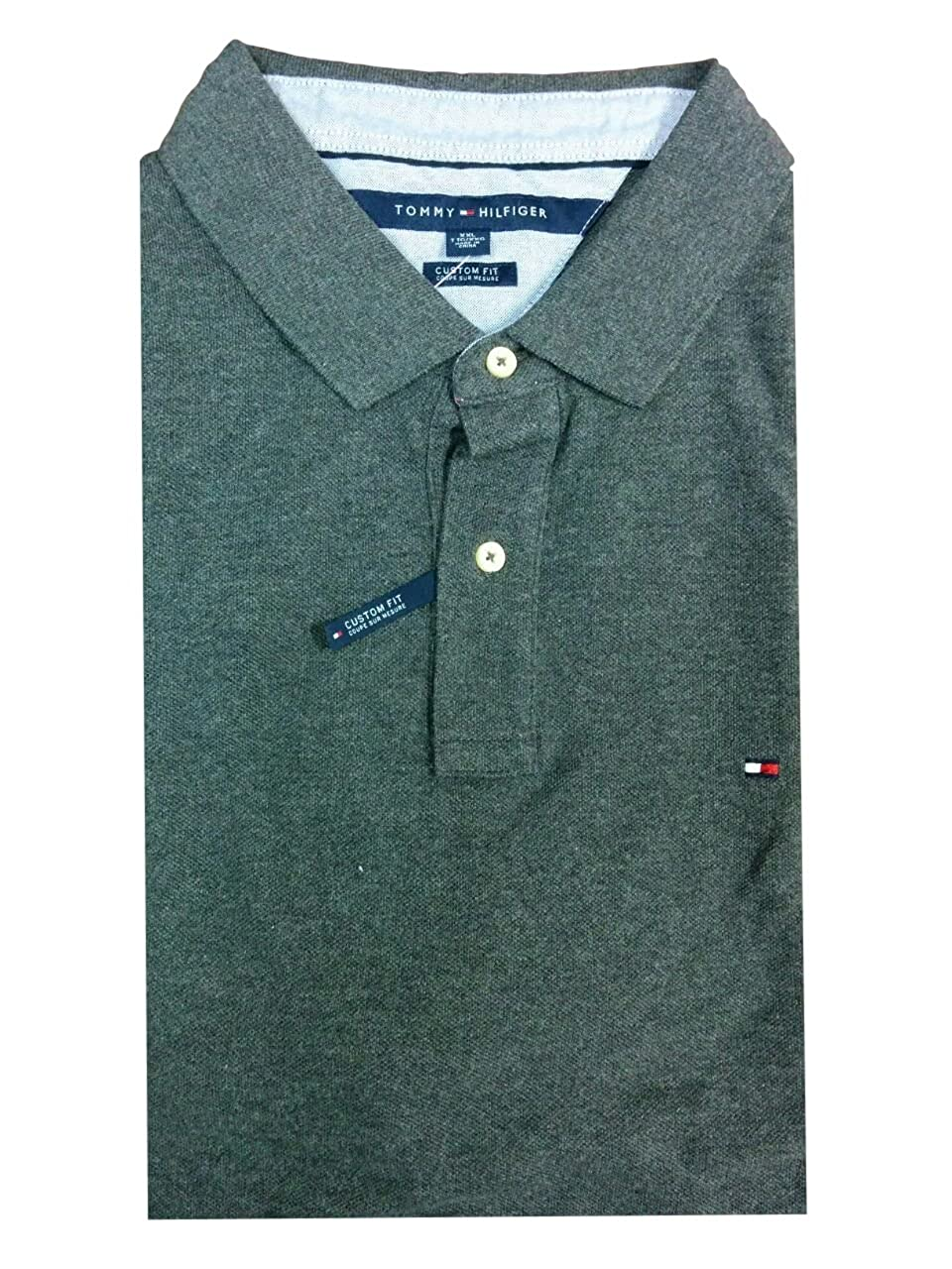 Tommy Hilfiger Mens Custom Fit Solid Color Polo Shirt THPS-4221-$P
