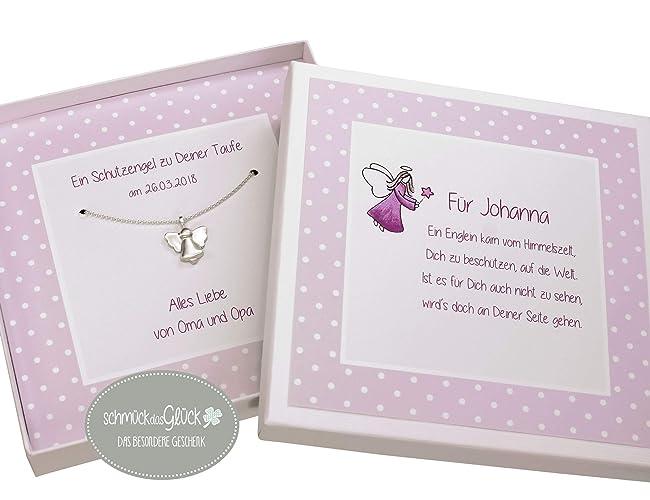 Schutzengel Engel Silber 925 Mit Geschenkbox Taufkette