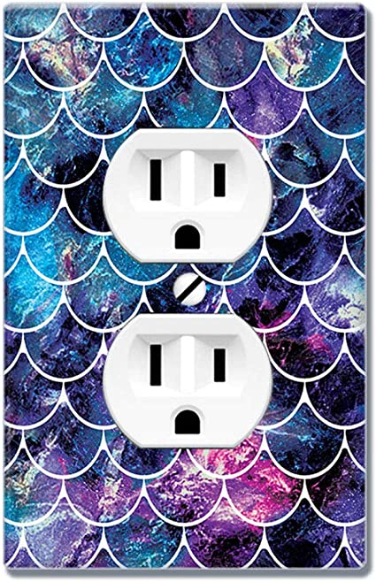 Wirester Duplex Outlet Cover Wall Plate Switch Plate Mosaic Mermaid Scale Amazon Com