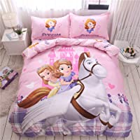 NSD Horse Sofia The First Princess Amber Cartoon Bedding Set Boys Girls Kids 100%...