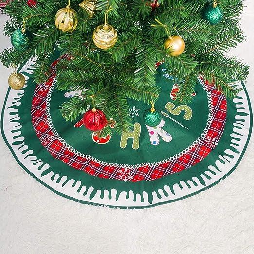 JCT Falda de árbol de Navidad, Falda de árbol de 36 Pulgadas ...