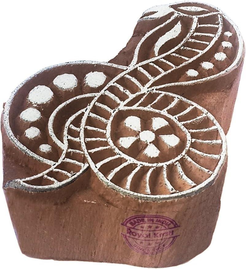 DIY Henna Fabric Textile Paper Clay Pottery Block Printing Stamp Oriental Turtle Animal Design Block Print Wood Stamp