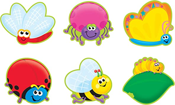 Amazon Com Trend Enterprises Inc Bright Bugs Classic Accents Variety Pack 36 Ct Learning And Development Toys Office Products
