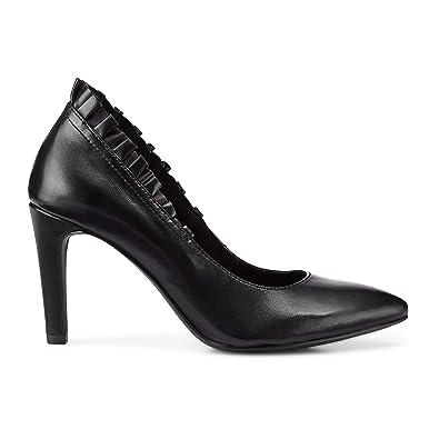 Tamaris Damen Abend Pumps schwarz Leder 38