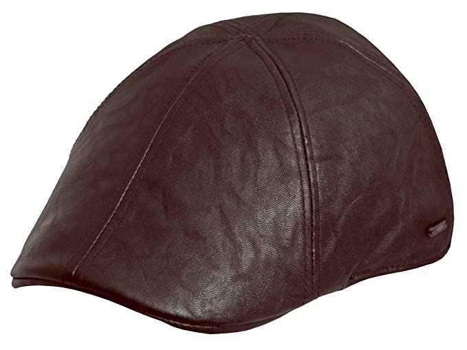 05380a73194 Amazon.com  6 Panel Duck-Bill Style Ivy Driver Golf Flat Cap (Brown ...