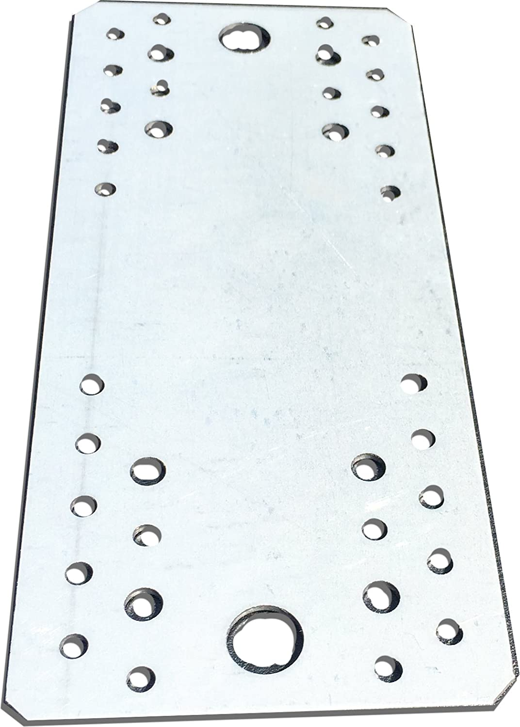 10 pcs. Flat Connecting Joining Plate, galvanised, 210 x 90 mm x 2mm OMIdeas
