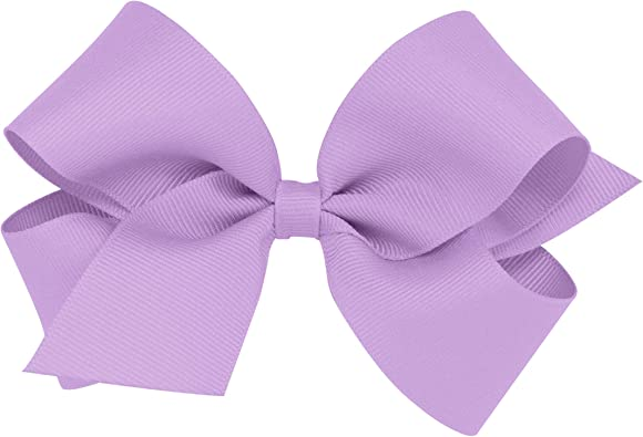 Navy Wee Ones Baby Girls King Grosgrain Hair Bow on a WeeStay Clip w//Plain Wrap