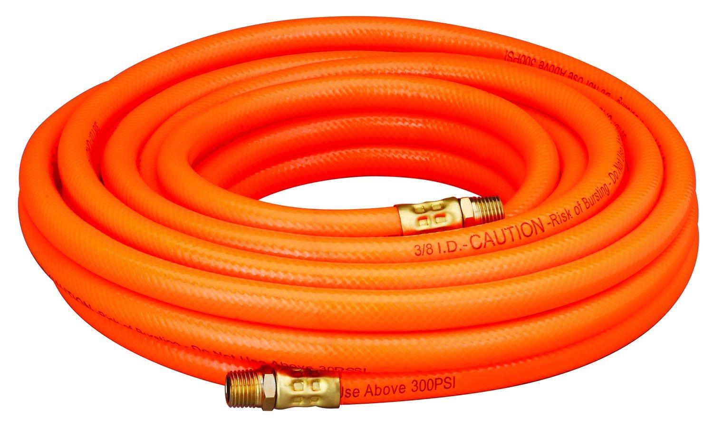 Amflo 576-25A Orange 300 PSI PVC Air Hose 3/8'' x 25' With 1/4'' MNPT End Fittings