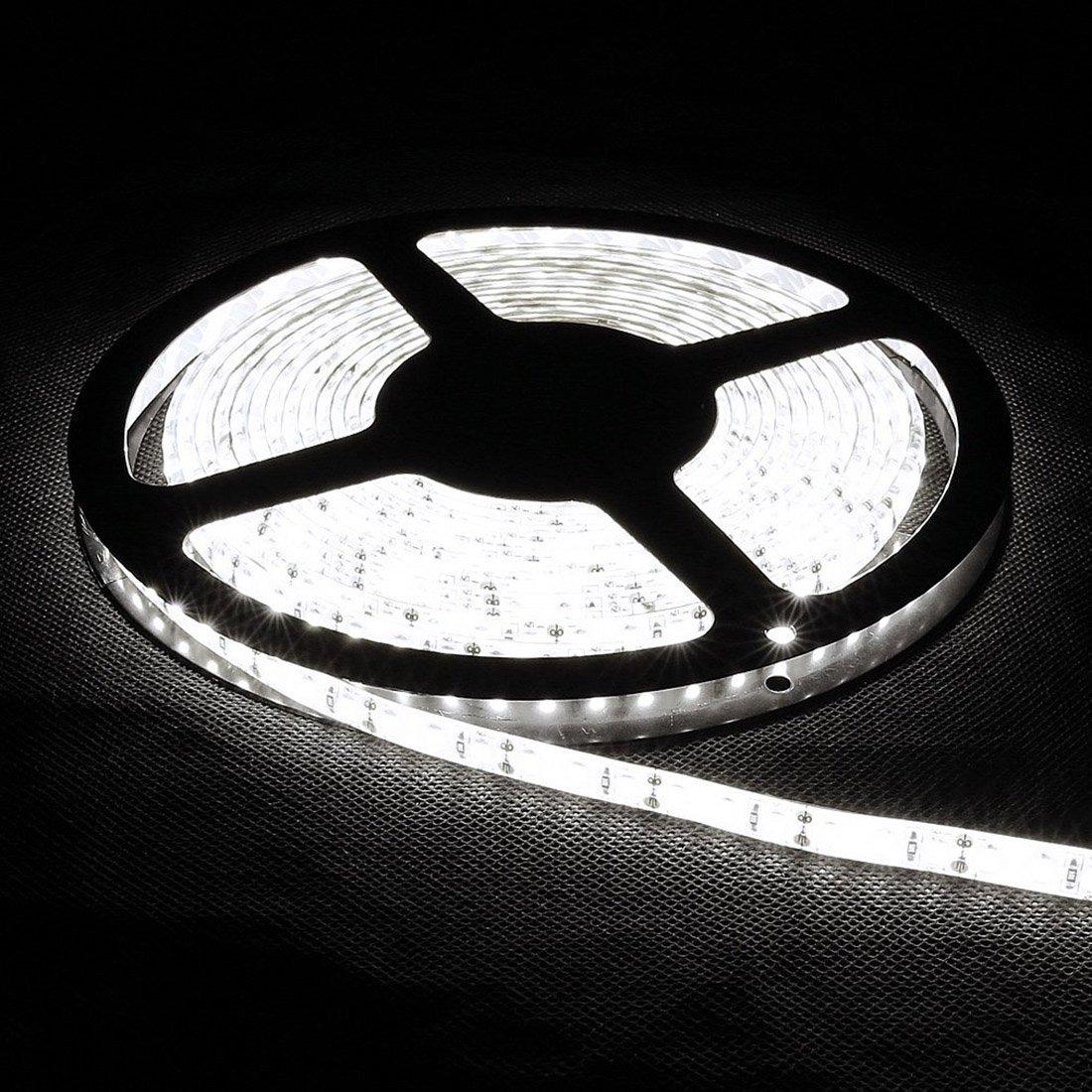 LED Strip Band Lights Remote Controller LED Strip Band Lights SODIAL Flexible 5M DC 12V 72W SMD 2835*600 Leds IP65 Waterproof White R 6500K