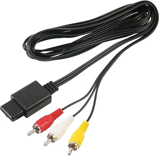 Cable AV con/sin adaptador Scart adaptable a Gamecube/N64 ...