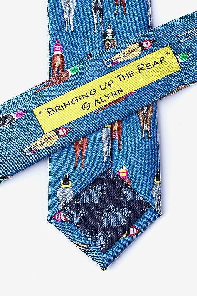 Bringing Up The Rear Blue Silk Skinny Tie