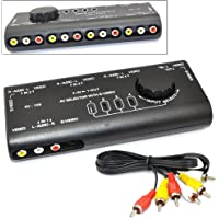 iKKEGOL 4 in 1 AV Audio Video Signal Switcher S-Video Selector Splitter with RCA Cable for VCD DVD Video Camera Recorder…