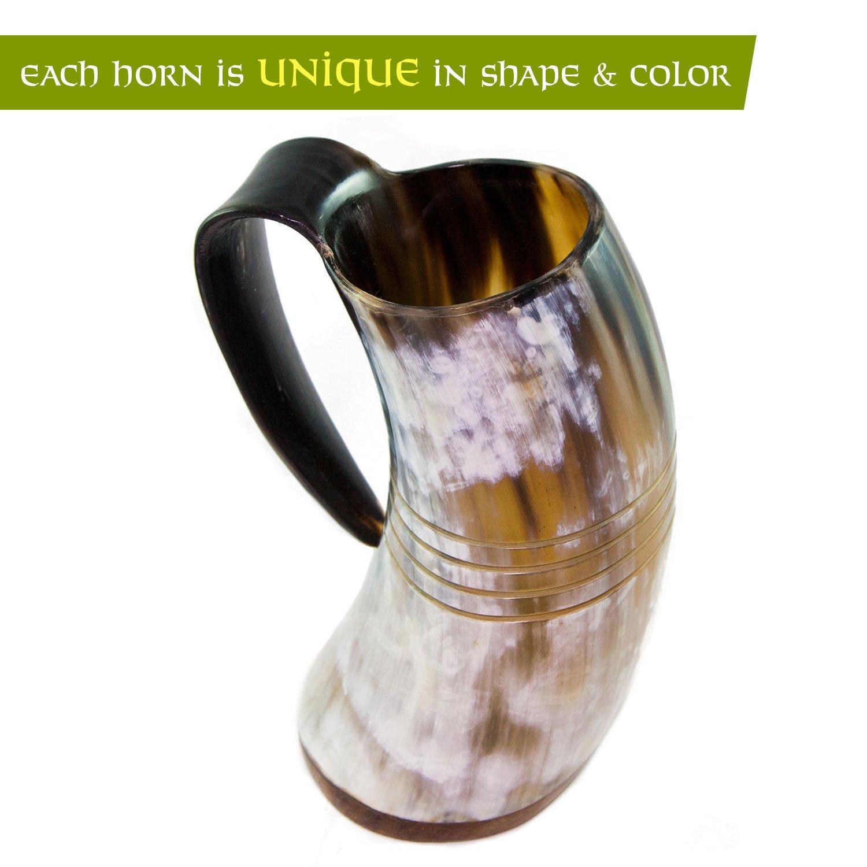 Norse Tradesman Genuine Viking Drinking Horn Tankard (4, The Eternal) by Norse Tradesman (Image #8)