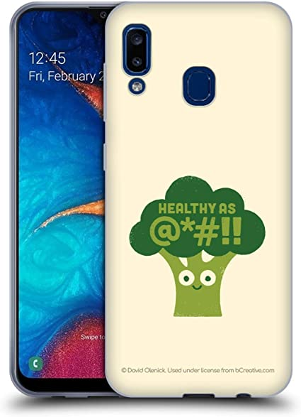 Official David Olenick Raw Truth Brocolli Food Soft Gel Case Compatible for Samsung Galaxy A20 / A30 (2019): Amazon.es: Electrónica